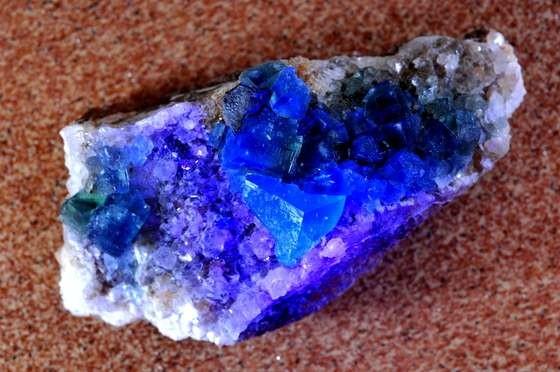 Fluorite with UV